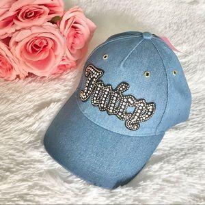 NWT JUICY COUTURE hat denim cap logo
